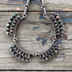 Vintage Abalone Sterling Necklace